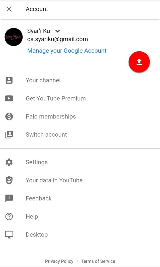 Buat channel YouTube di handphone